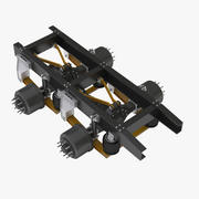 Truck 2 Axle Chassis 3d model