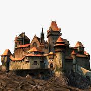 中世の要塞、城、ブルク 3d model