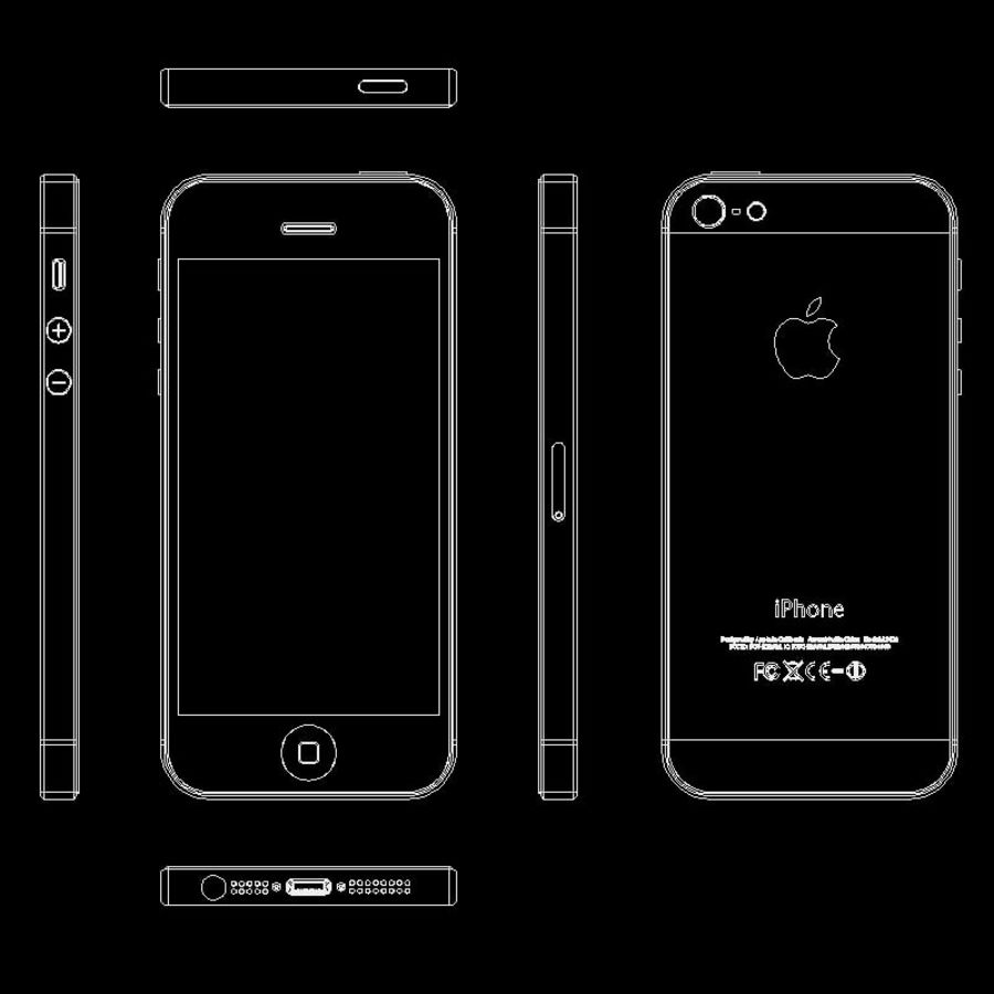 Apple iPhone 5 royalty-free 3d model - Preview no. 2