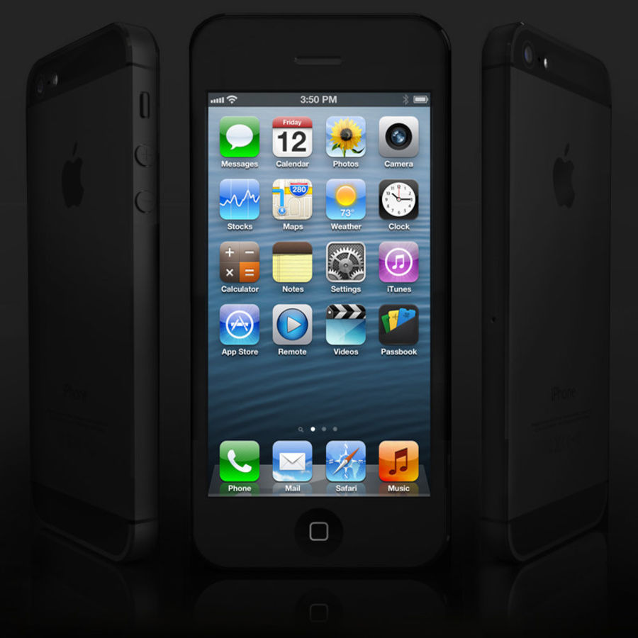 Apple iPhone 5 royalty-free 3d model - Preview no. 1