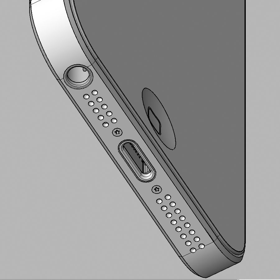 Apple iPhone 5 royalty-free 3d model - Preview no. 9