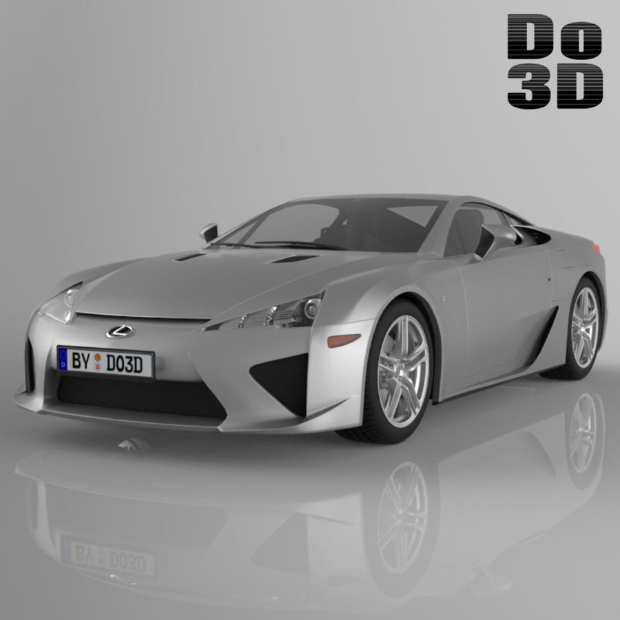 レクサスLFA 2013 royalty-free 3d model - Preview no. 1