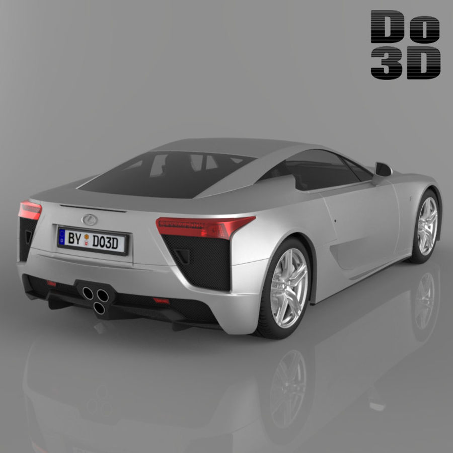 レクサスLFA 2013 royalty-free 3d model - Preview no. 2