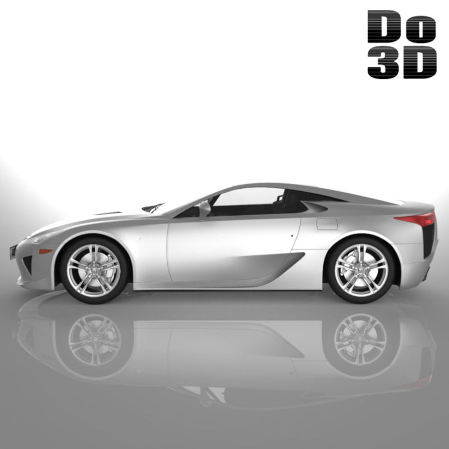 レクサスLFA 2013 royalty-free 3d model - Preview no. 3