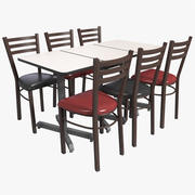Restoran Masası 3d model