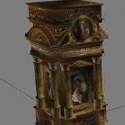 Altar de la iglesia románica modelo 3d