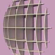 spherical shelves 3d model