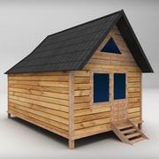 목조 주택 보통 낮은 폴리 3d model
