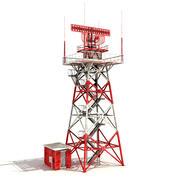 Большая радарная башня 3d model