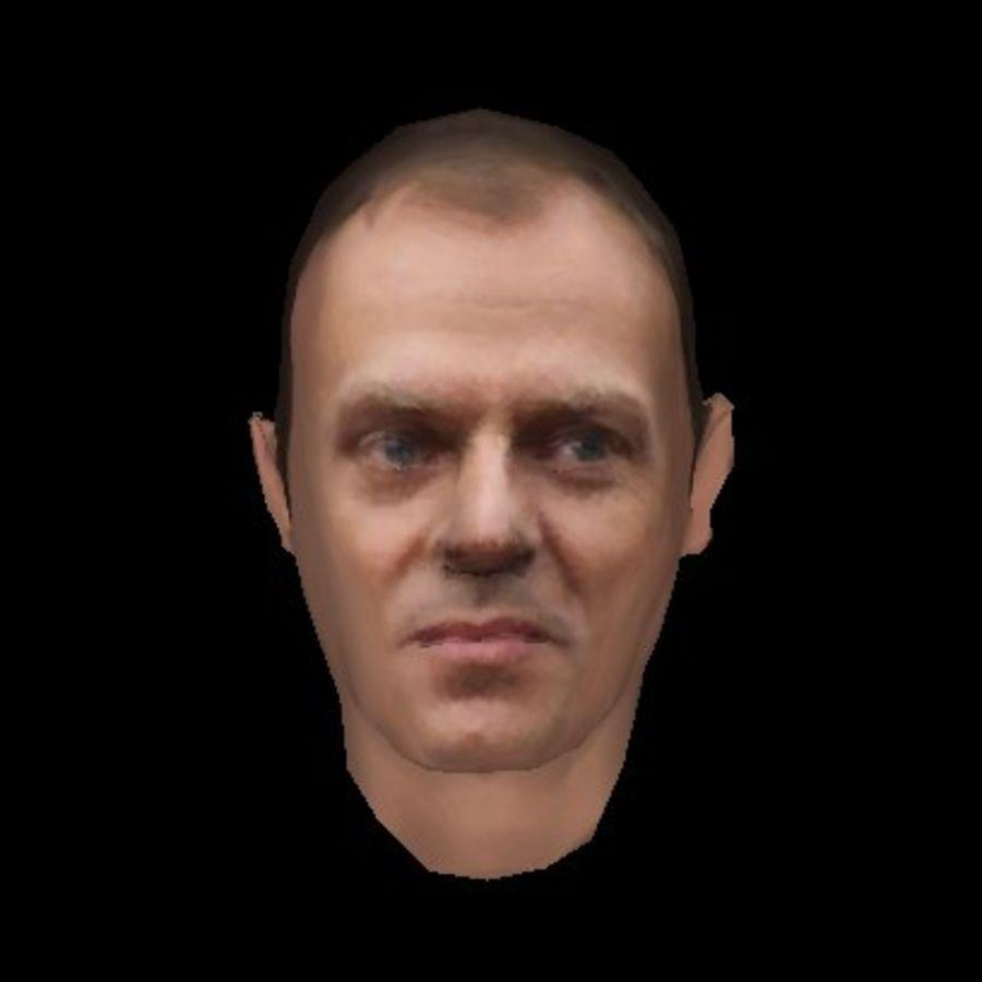 Primo Ministro polacco di Donald Tusk royalty-free 3d model - Preview no. 1