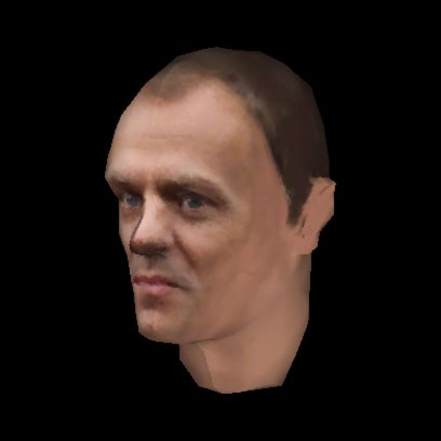 Primo Ministro polacco di Donald Tusk royalty-free 3d model - Preview no. 2