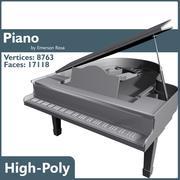 グランドピアノ 3d model