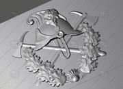 emblema de bombero modelo 3d
