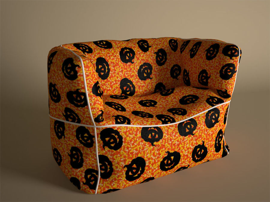 Bag Chair royalty-free 3d model - Preview no. 8