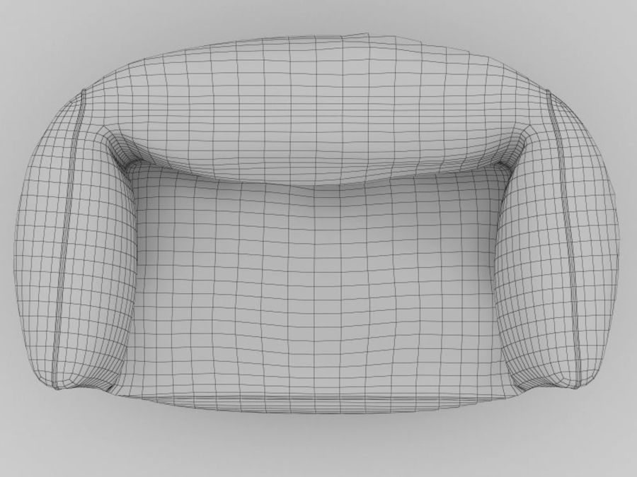 Bag Chair royalty-free 3d model - Preview no. 3
