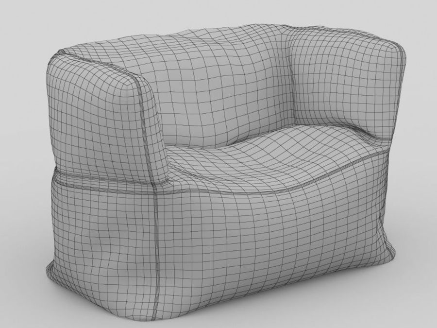 Bag Chair royalty-free 3d model - Preview no. 9