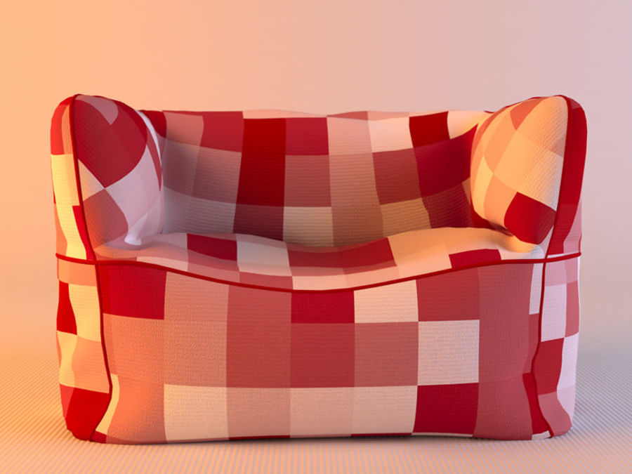 Bag Chair royalty-free 3d model - Preview no. 4