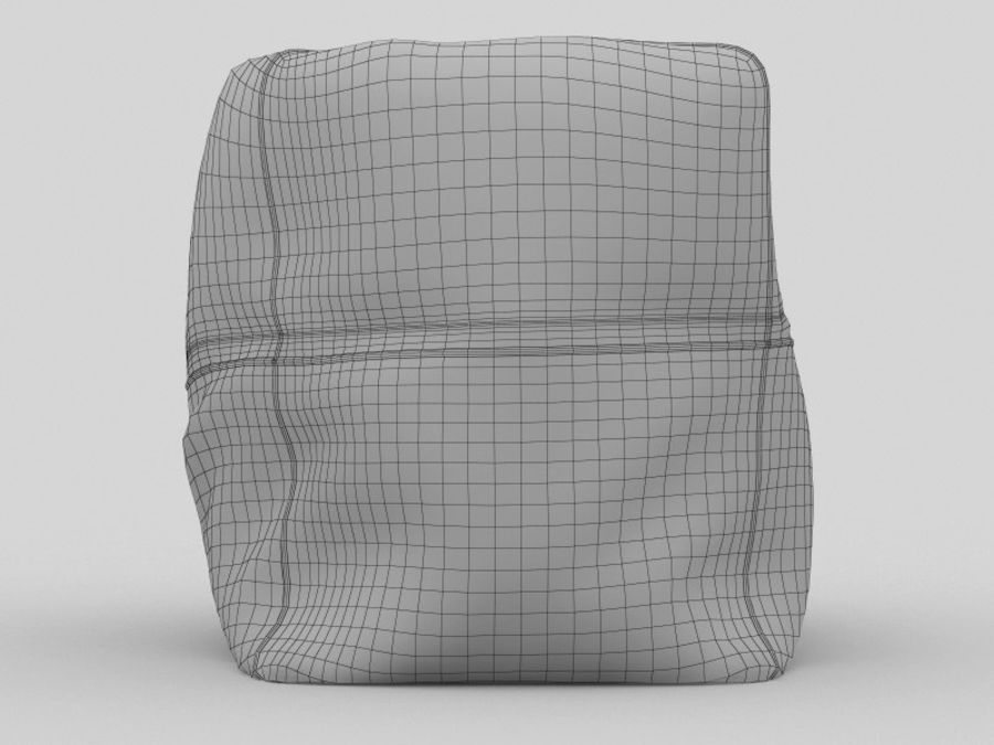 Bag Chair royalty-free 3d model - Preview no. 11