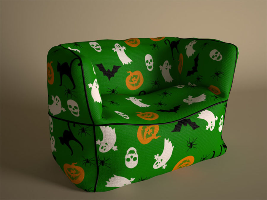 Bag Chair royalty-free 3d model - Preview no. 5