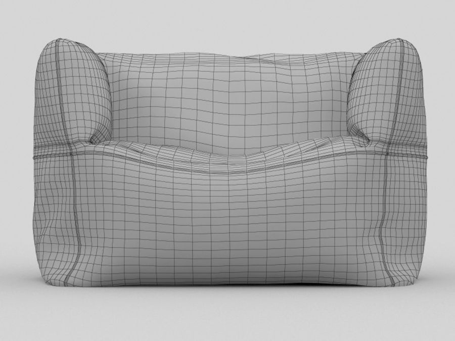Bag Chair royalty-free 3d model - Preview no. 10