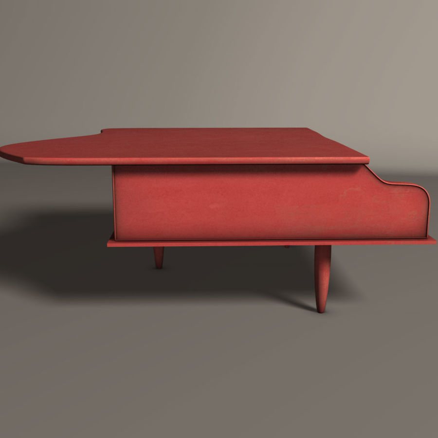 Piano jouet royalty-free 3d model - Preview no. 3