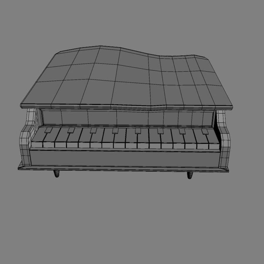 Piano jouet royalty-free 3d model - Preview no. 7