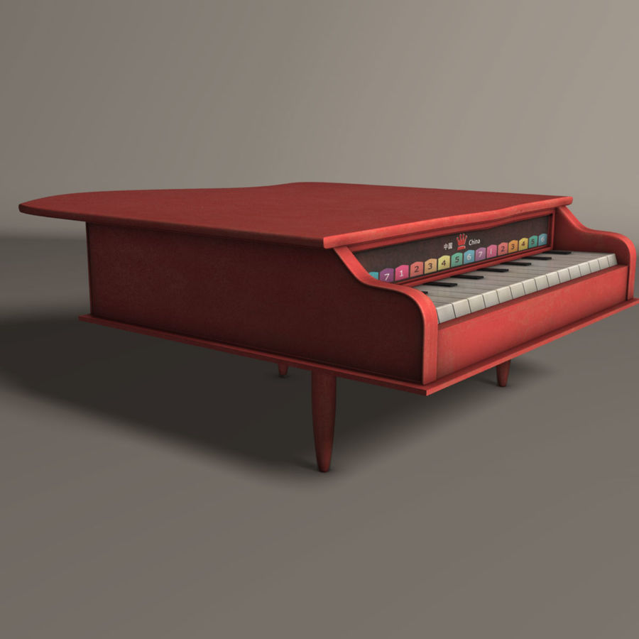 Piano jouet royalty-free 3d model - Preview no. 2
