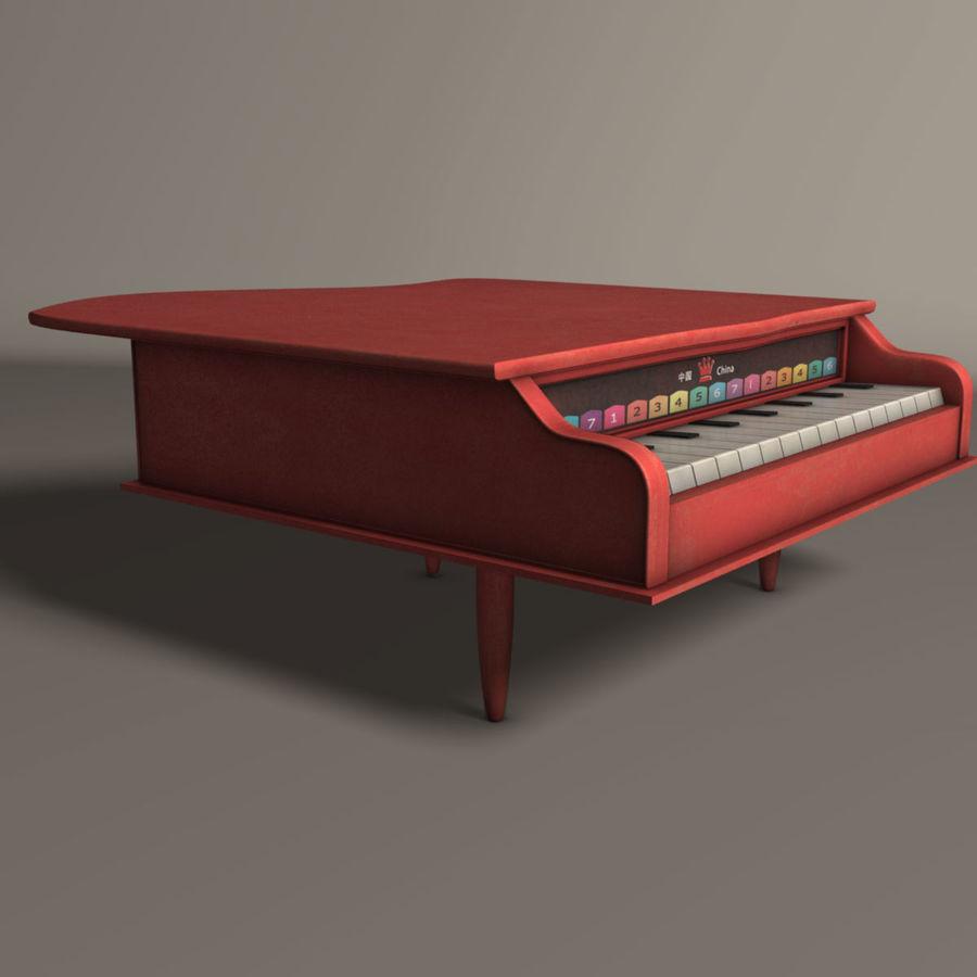 おもちゃのピアノ royalty-free 3d model - Preview no. 2