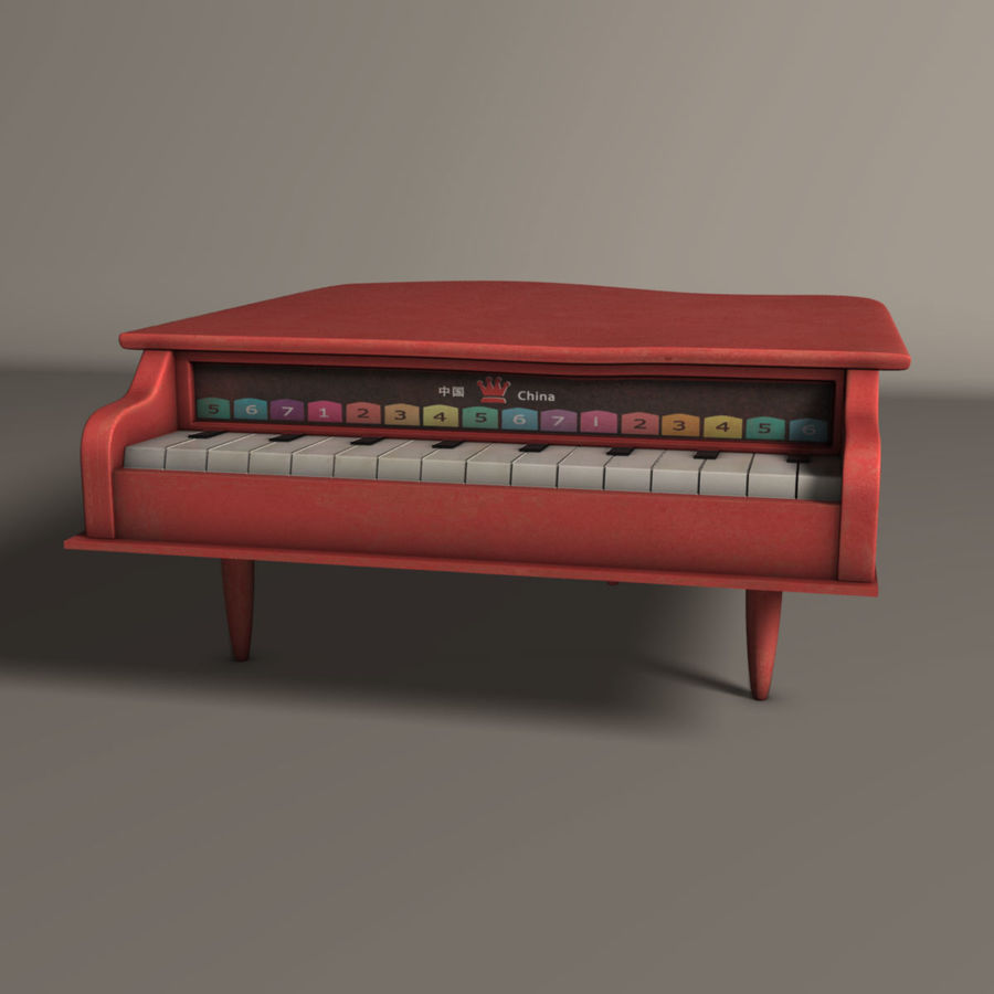 Piano jouet royalty-free 3d model - Preview no. 1