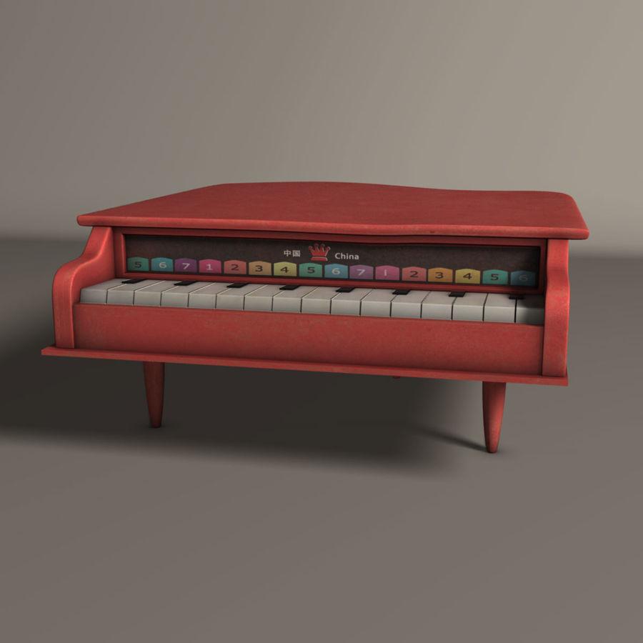 おもちゃのピアノ royalty-free 3d model - Preview no. 1