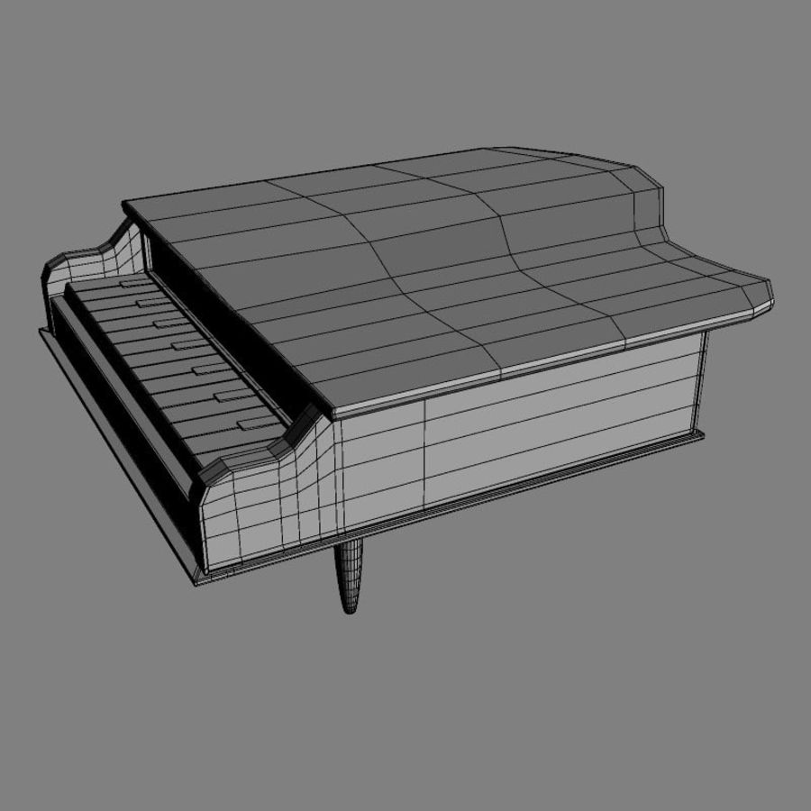 Piano jouet royalty-free 3d model - Preview no. 8