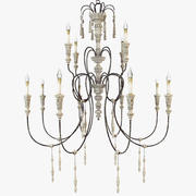 Currey and company - Hannah chandelier large Art 9117 3d model