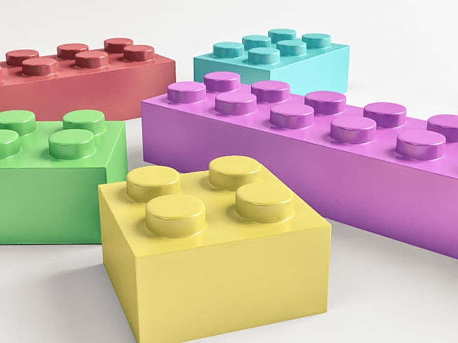 レゴ royalty-free 3d model - Preview no. 3