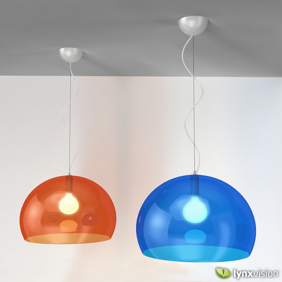 Lampa wisząca FLY firmy Kartell royalty-free 3d model - Preview no. 1