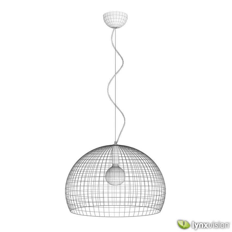 Lampa wisząca FLY firmy Kartell royalty-free 3d model - Preview no. 4
