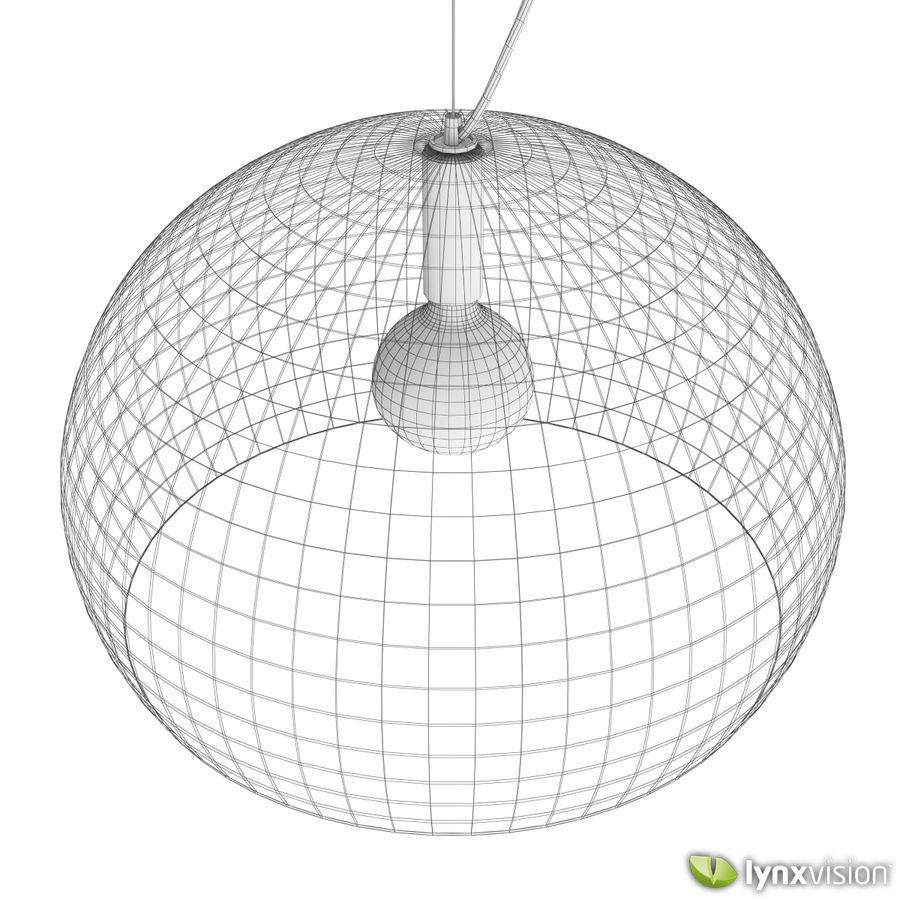 Lampa wisząca FLY firmy Kartell royalty-free 3d model - Preview no. 5