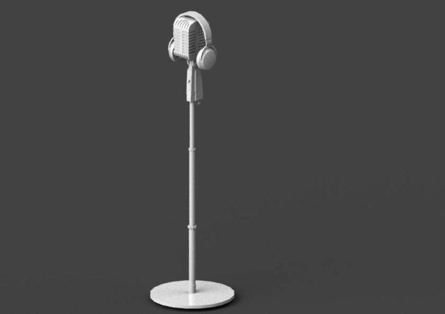 헤드폰 빈티지 마이크 royalty-free 3d model - Preview no. 13
