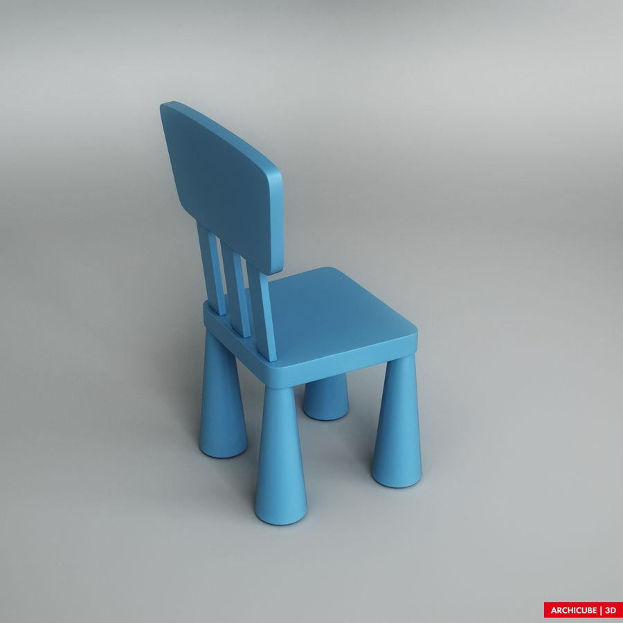 Детский стул royalty-free 3d model - Preview no. 4