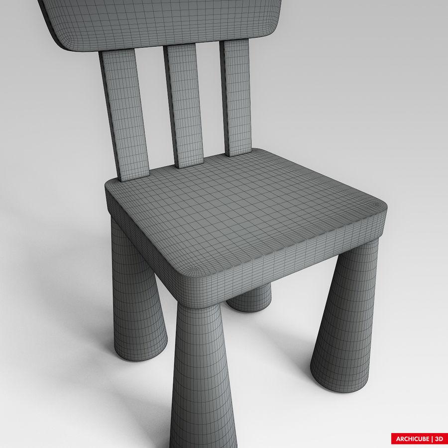 Детский стул royalty-free 3d model - Preview no. 10