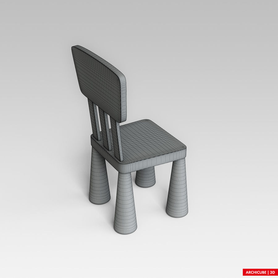 Детский стул royalty-free 3d model - Preview no. 9