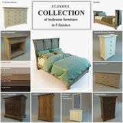 ST.James Collection de mobilier de chambre 3d model