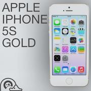 Apple iPhone 5s Oro modelo 3d
