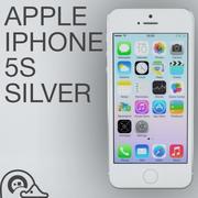 苹果iPhone 5s银色 3d model