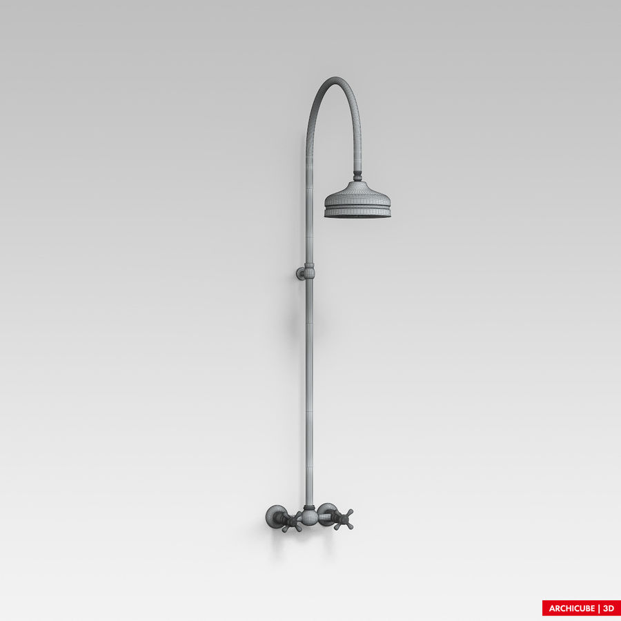 Dusche royalty-free 3d model - Preview no. 6
