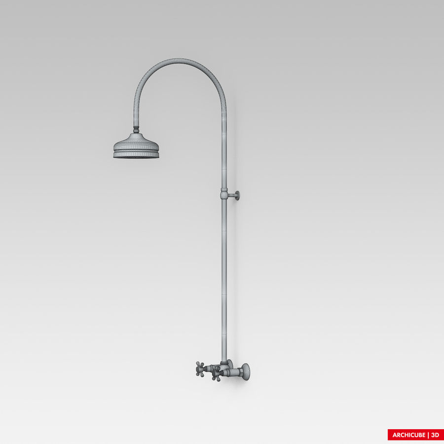 Dusche royalty-free 3d model - Preview no. 9