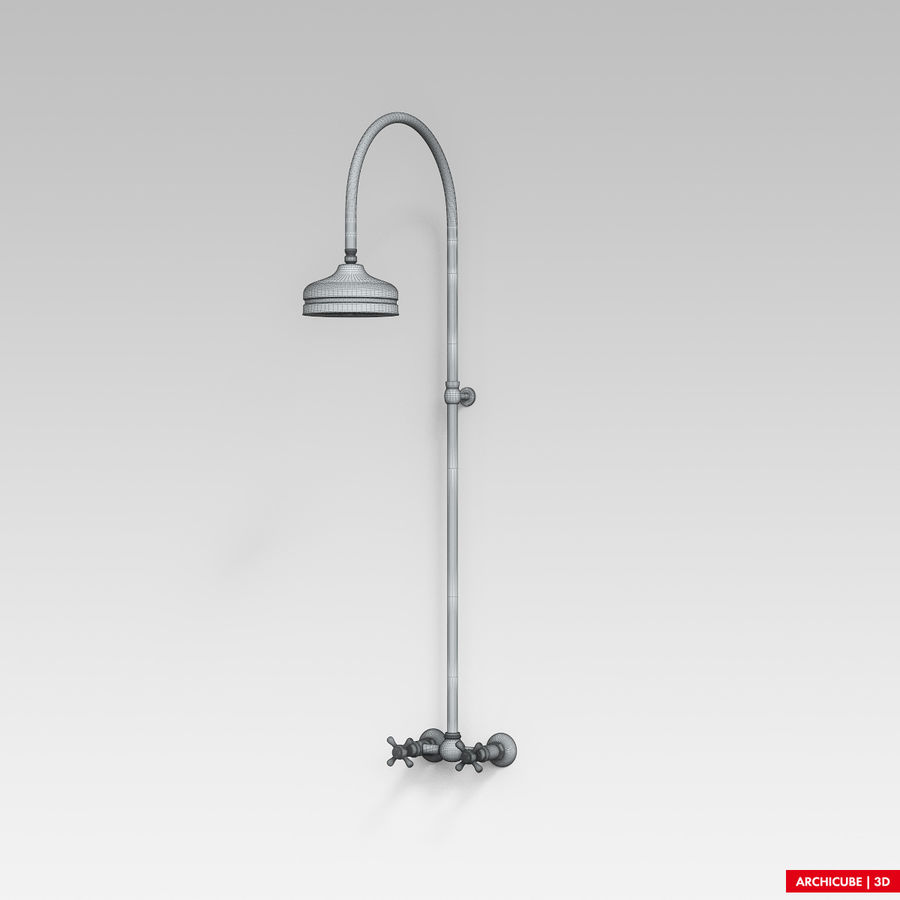 Dusche royalty-free 3d model - Preview no. 8