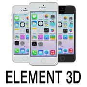 Element 3D için Apple iPhone 5S 3d model