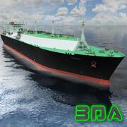 LNGタンカー船三井137000cm 3d model