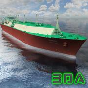 LNGタンカーQuatar Gas 137000cm 3d model