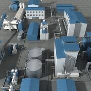 Sugar Factory 3d model
